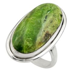 16.32cts natural green pietersite 925 silver solitaire ring size 8.5 r28518