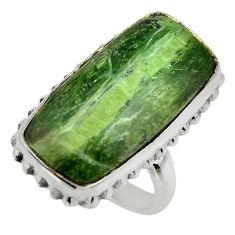 15.44cts natural green pietersite 925 silver solitaire ring size 7 r28505