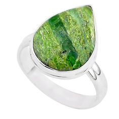 7.67cts natural green swiss imperial opal silver solitaire ring size 9 r95744