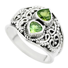 1.75cts natural green tourmaline 925 sterling silver ring jewelry size 7 t44884