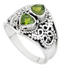 1.73cts natural green tourmaline 925 sterling silver ring jewelry size 7 t44887
