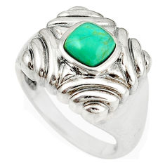 Natural green turquoise tibetan 925 sterling silver ring jewelry size 7 c10638