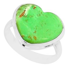 9.99cts natural green variscite 925 silver solitaire ring jewelry size 8 r84625