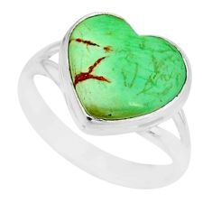 8.91cts natural green variscite 925 silver solitaire ring jewelry size 9 r84637