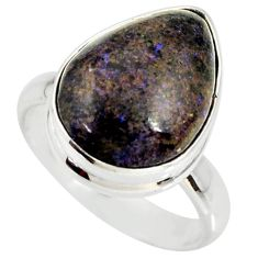 9.47cts natural honduran matrix opal 925 silver solitaire ring size 7.5 r34356