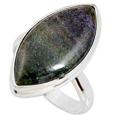 13.85cts natural honduran matrix opal 925 silver solitaire ring size 8.5 r34373