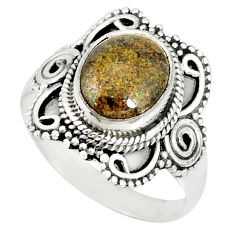 4.30cts natural honduran matrix opal 925 silver solitaire ring size 8.5 r77695