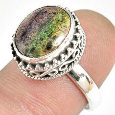 5.07cts natural honduran matrix opal 925 silver solitaire ring size 7 r76074
