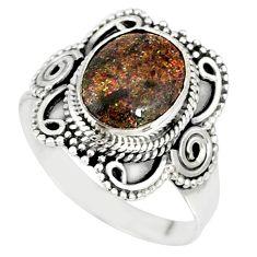 4.30cts natural honduran matrix opal 925 silver solitaire ring size 7 r77691