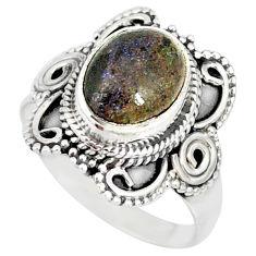 4.30cts natural honduran matrix opal 925 silver solitaire ring size 7 r77721