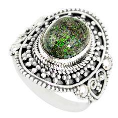4.50cts natural honduran matrix opal 925 silver solitaire ring size 7 r77726