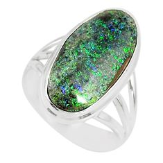 8.41cts natural honduran matrix opal 925 silver solitaire ring size 7 r80327