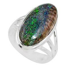 9.05cts natural honduran matrix opal 925 silver solitaire ring size 7 r80331