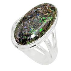 8.44cts natural honduran matrix opal 925 silver solitaire ring size 7 r80352