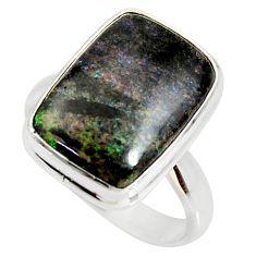 10.15cts natural honduran matrix opal 925 silver solitaire ring size 8 r34376