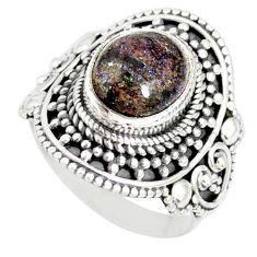 4.55cts natural honduran matrix opal 925 silver solitaire ring size 8 r77730