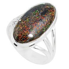9.05cts natural honduran matrix opal 925 silver solitaire ring size 8 r80321