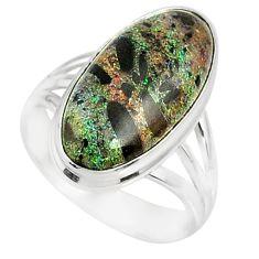 9.05cts natural honduran matrix opal 925 silver solitaire ring size 8 r80338
