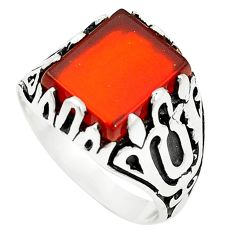 Natural honey onyx 925 sterling silver mens ring jewelry size 8.5 c11546