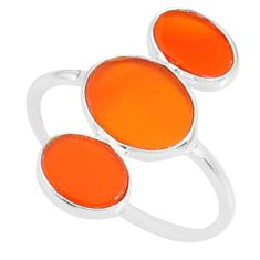 6.53cts natural honey onyx 925 sterling silver ring jewelry size 8.5 r88141