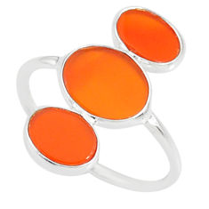 7.10cts natural honey onyx 925 sterling silver ring jewelry size 7 r88072