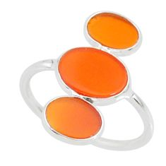 6.29cts natural honey onyx 925 sterling silver ring jewelry size 7 r88332