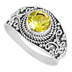 2.78cts natural lemon topaz 925 sterling silver solitaire ring size 9.5 r57997
