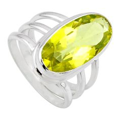 7.50cts natural lemon topaz 925 sterling silver solitaire ring size 7 r55985