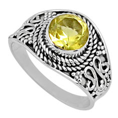 2.42cts natural lemon topaz 925 sterling silver solitaire ring size 7 r58648