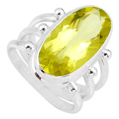 8.87cts natural lemon topaz 925 sterling silver solitaire ring size 7 r58666