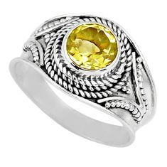 2.61cts natural lemon topaz 925 sterling silver solitaire ring size 8 r57998