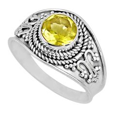 2.42cts natural lemon topaz 925 sterling silver solitaire ring size 9 r57995