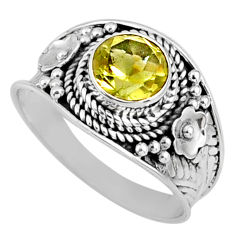2.73cts natural lemon topaz 925 sterling silver solitaire ring size 9 r58647
