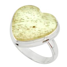 12.96cts natural libyan desert glass 925 silver solitaire ring size 7.5 r37822