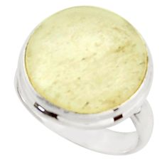 14.72cts natural libyan desert glass 925 silver solitaire ring size 8 d46561