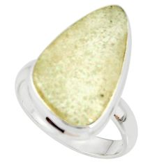 13.48cts natural libyan desert glass 925 silver solitaire ring size 8 r37835