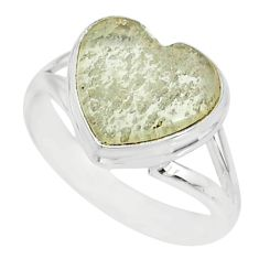 7.62cts natural libyan desert glass 925 silver solitaire ring size 9 r84723
