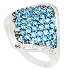 4.40cts natural london blue topaz 925 sterling silver ring jewelry size 7 c20639