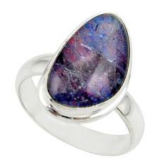 6.34cts natural multicolor australian opal triplet 925 silver ring size 6 r42524