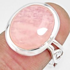 7.89cts natural orange morganite 925 silver solitaire ring size 7.5 r22531