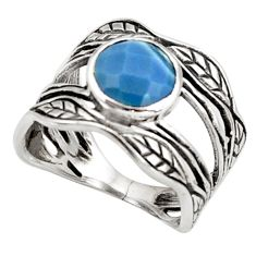 2.92cts natural owyhee opal 925 silver solitaire leaf charm ring size 7.5 r36945