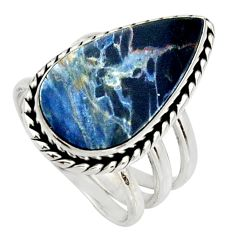 11.21cts natural pietersite (african) 925 silver solitaire ring size 7.5 r25005