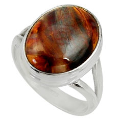 9.98cts natural pietersite (african) 925 silver solitaire ring size 8.5 r28207