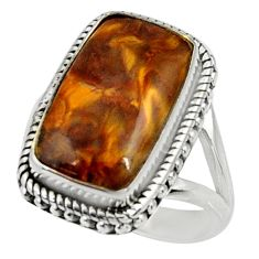 9.41cts natural pietersite (african) 925 silver solitaire ring size 7.5 r28208