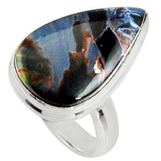 12.07cts natural pietersite (african) 925 silver solitaire ring size 6 r25012