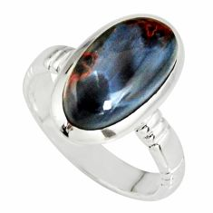 6.36cts natural pietersite (african) 925 silver solitaire ring size 7 r19003