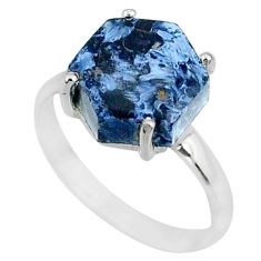 4.91cts natural pietersite (african) 925 silver solitaire ring size 7 r82022