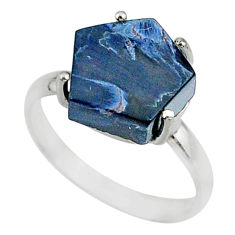 5.15cts natural pietersite (african) 925 silver solitaire ring size 7 r82023