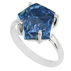 5.13cts natural pietersite (african) 925 silver solitaire ring size 7 r82050