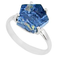 4.86cts natural pietersite (african) 925 silver solitaire ring size 7 r82052